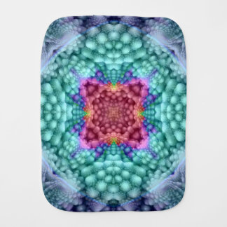 Groovy Man Kaleidoscope  Burp Cloth