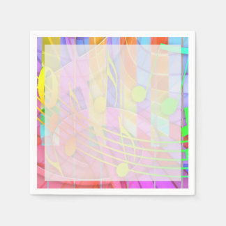 Groovy Musical Abstract Disposable Napkins