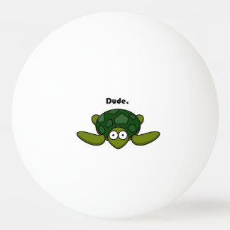 Groovy Turtle Dude Cartoon Ping Pong Ball