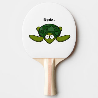 Groovy Turtle Dude Cartoon Ping Pong Paddle