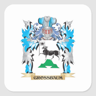 Grossbaum Coat of Arms - Family Crest Square Sticker