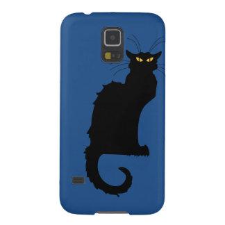grouchy cat samsung S5 case blue