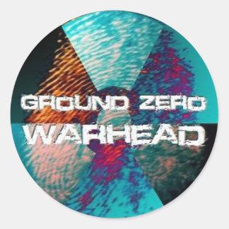 Ground Zero Warhead Finger Print Round Sticker