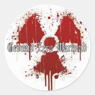 Ground Zero Warhead Red Splatter Classic Round Sticker