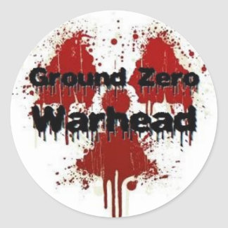 Ground Zero Warhead Splatter Round Sticker