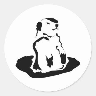 groundhog classic round sticker