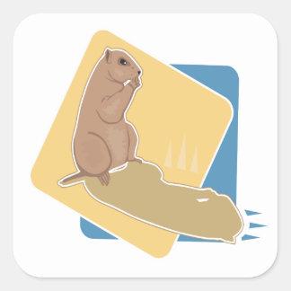 Groundhog Day Square Sticker