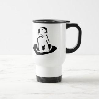 groundhog stainless steel travel mug