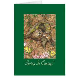 Groundhog's day card