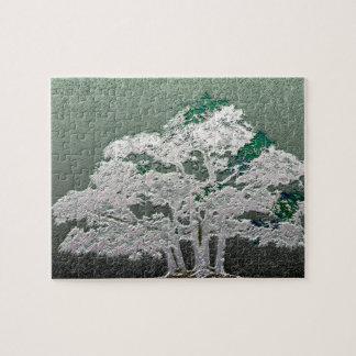 Group of Bonsai Trees in Metallic Green Jigsaw Puzzle