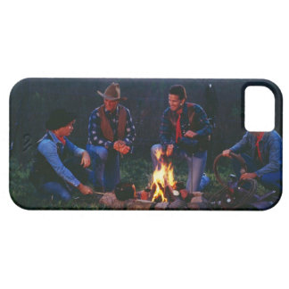 Group of cowboys around campfire iPhone 5 cases