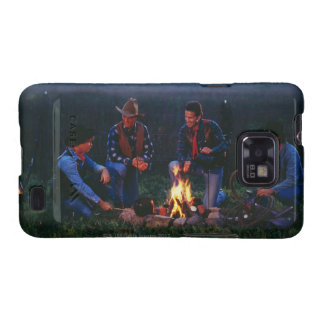 Group of cowboys around campfire galaxy SII cases