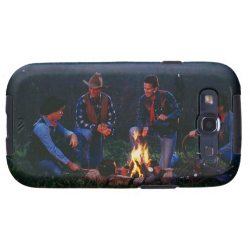Group of cowboys around campfire samsung galaxy s3 cases