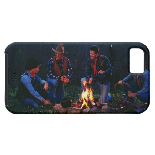 Group of cowboys around campfire iPhone 5 case