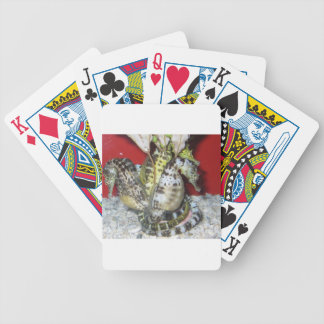 Group of Yellow-Green, Brown & White Sea Horses Playing Cards