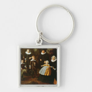 Group portrait of three generations of a key ring