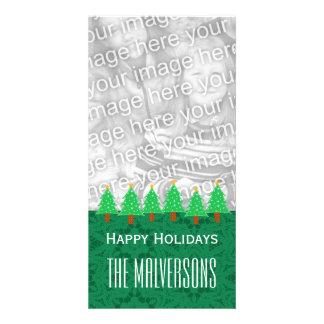 GROUPON Christmas Trees Merry Christmas V6 Customised Photo Card
