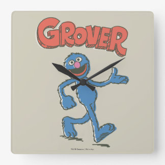 Grover Vintage Kids 2 Square Wall Clock