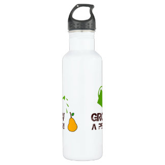 Grow a Pear! funny rebus humor (White-more colors) 710 Ml Water Bottle