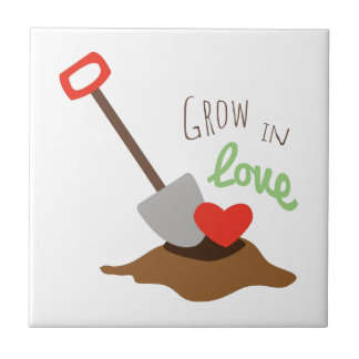 Grow In Love Small Square Tile