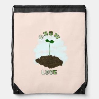 Grow love drawstring bag