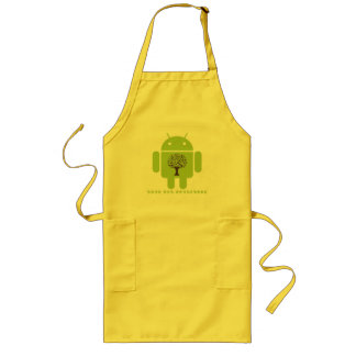 Grow The Ecosystem (Bug Droid Brown Tree) Long Apron
