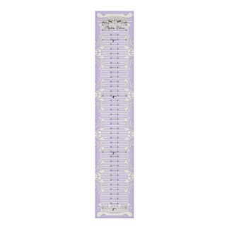 Growth Chart - Our Princess Hearts Swirls Banner Poster