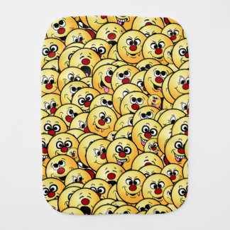 Grumpeys Funny Smiley Faces Set Burp Cloth