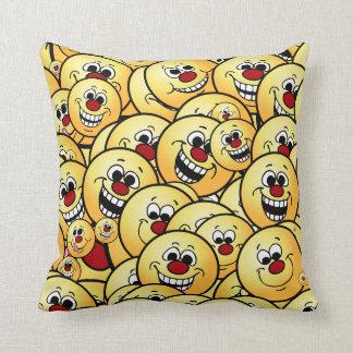 Grumpeys Happy Smiley Faces Set Cushion