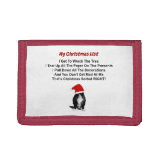 Grumpy Cat Christmas Nylon Wallet
