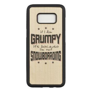 GRUMPY not SNOWBOARDING (blk) Carved Samsung Galaxy S8 Case