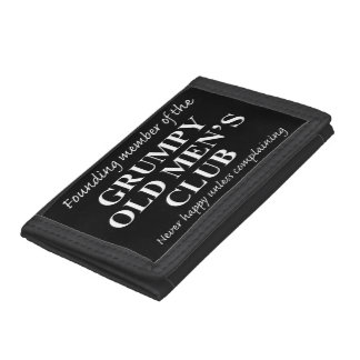 Grumpy Old Men's Club Trifold Wallet