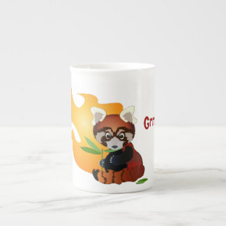 Grumpy Red Panda Tea Cup