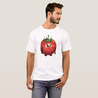 Grumpy Red Tomato on White Background T-Shirt