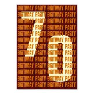 Grunge 70th Birthday Gold and Brown W1049 Card