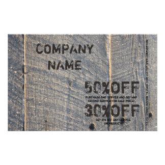 grunge barn wood texture Carpentry Construction 14 Cm X 21.5 Cm Flyer