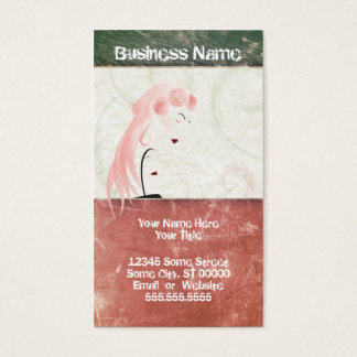 grunge beauty business card
