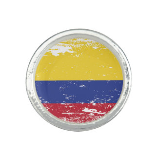 Grunge Colombia Flag