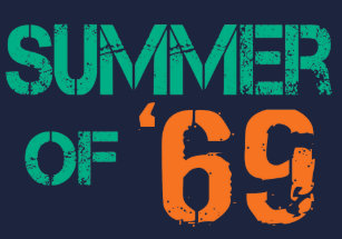 9bd49110214c Grunge distressed Summer of  69 Tee