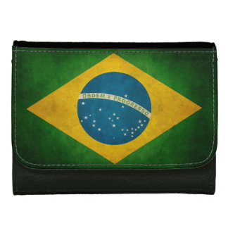 Grunge Flag of Brazil Bandeira do Brasil Wallet For Women