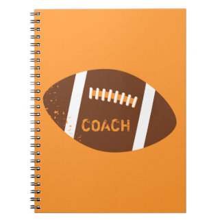 Grunge Football Coach Notebook