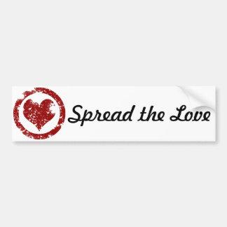 Grunge Heart Bumper Sticker
