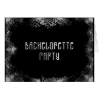 Grunge Invite 1  Bachelorette Party - B&W Card