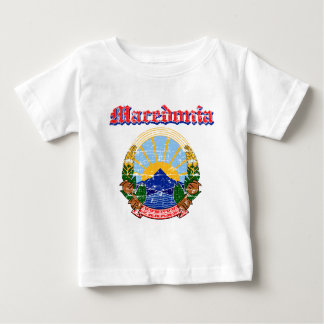 Grunge Macedonia coat of arms designs Baby T-Shirt