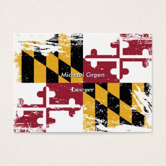 Grunge Maryland Flag Business Card