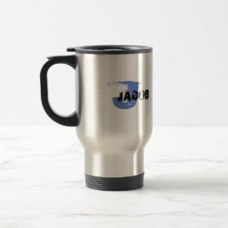 Grunge Monogrammed Stainless Steel Travel Mug