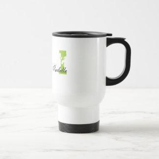 Grunge Monogrammed Travel Mug