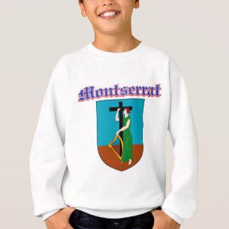 Grunge Montserrat coat of arms designs Sweatshirt