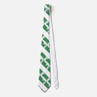 Grunge Nigeria Flag Tie