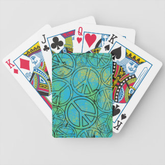 GRUNGE PEACES Playing Cards